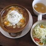 ゼルコーバ - 温玉とかぼちゃの焼きカレー
