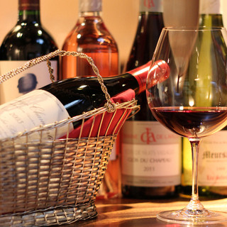 ワインや日本酒も豊富にご用意
