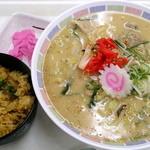 札幌市役所本庁舎食堂 - 特選ラーメン炒飯セット_600円