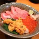 みやもと - 料理写真:本マグロ3色丼☆