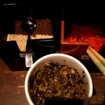 ろくの家 大黒 - 「辛子高菜」「白ゴマ」「紅生姜」はお好みで