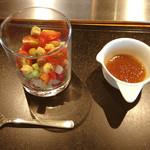 石心亭 - グラスいりサラダ