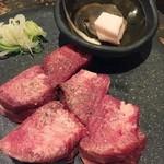 京都 ぐら - 厚切り牛タン。