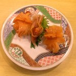 宇兵衛寿司 - 活き赤貝¥525~400