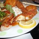 レストランすいず - 魚のフライはクリームコロッケになってます。
