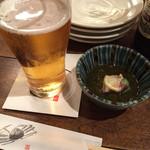 鮪喜 - 生ビール。