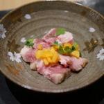 ナミダ - 豚ロース低温調理 柿とホワイトバルサミコ