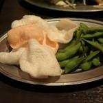 Beer&BBQ KIMURAYA - えびせん&枝豆