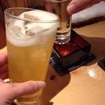 旬草 弥ひろ - 獺祭(山口の名酒)と杏酒のソーダ割