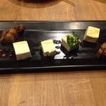 35202918 - いぶりがっこと、モッツァレラチーズの味噌漬け!美味!