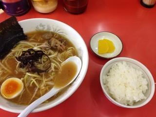 ラーメン 遊ゆう - ネギラーメンライスセット 800円→500円 ランパス使用