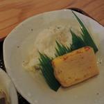 やんさ - 小鉢1:ポテトサラダと玉子焼き