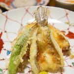 千松しま - ハゼと渡り蟹の甲羅揚げ(2012/11)