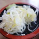 強清水元祖清水屋 - 盛りの良い薬味葱