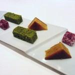 コーダリー - 木苺のパート・ド・フリュイ  オレンジのフィナンシェ  抹茶のケーキ