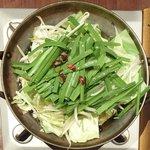 月のせせらぎ - 日替り鍋御膳 500円 の野菜だけの鍋