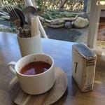 オッコ ベーグル - 本日のグルメランチのスープ  トマトスープ おいしく頂きました!  (*´ڡ`●)