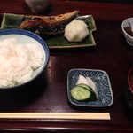 ひもの あん梅 - さば塩焼き定食 1,000円