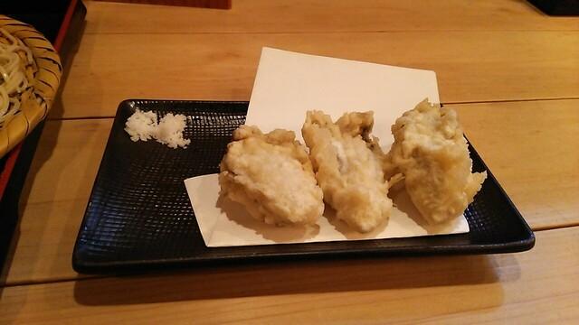 手打蕎麦 松永 - 牡蠣の天ぷら