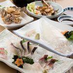 食事処マルタ活魚 - 料理写真:何にしようかまよったらまずはこれを‼おまかせコース
