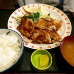 和光食堂 - 豚ロースみそ焼き定食 \850(税込)