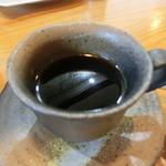 旬菜料理 楽 - ご飯セットついてくるコーヒー