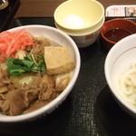 35227789 - 牛すき丼並+小うどんかまたま:500円