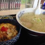 35230347 - ラーメンセット(塩+かつ丼)750円