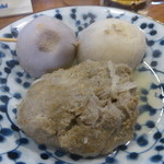35230690 - いわしのつみれ(350円)、里芋(350円)