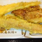 丸亀製麺 - イカ天¥120、かしわ天¥110、ちくわ天¥110