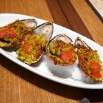 タパス ブランコ - パーナ貝のオーブン焼き