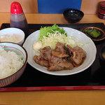 そば・定食 ふか河 - 生姜焼き定食700円
