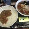 麺七 - 料理写真:本日の日替りセット③カレーライスともやしらーめん500円(2015.2.20)