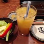 35236306 - フルーツミックスジュース&お通し