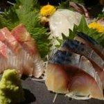 和雅家 - タコは軽く塩味。鯖は軽く〆てあります。