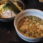 35246305 - 特武蔵つけめん (これで太麺らしい。東京とかで見かける太麺からしたら見た目普通のちぢれ麺)
