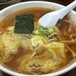 湯村食堂 - ワンタン麺(650円)
