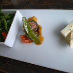 アワテンボウ - 料理写真:右から、大根のマヨネーズ和え、野菜のピリ辛マリネ、サラダ