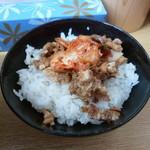 麺屋 達 - '15/02/21 Aセットの賄い丼(200円)