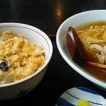 そば処おお山 - カツ丼ラーメンセット