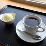牛窓オリーブショップ - バニラアイスカフェセット(360円)2015年2月