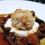 レゼールデカー - 真鱈の白子のポワレ、カリフラワーのピュレ、マデラ酒のソース