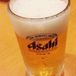 ヤマショウ - ビールはスーパードライ(お隣の方のを借りました)