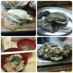 かき小屋 - 松島のカキ小屋で50分のカキ食べ放題( *´艸`)暫く食べたくないって言うくらいに目一杯食べてきちゃった(笑)実が大きくて美味しかったぁ!