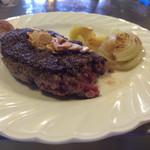 ステーキハウスひのき - 料理写真:ステーキセット(ランチ)ミディアムレア¥1800