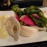 フーゴー - 野菜の昆布締め