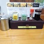 どん㐂 - 辛子と山椒、七味とタレ