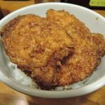 どん㐂 - 豚とチキンのミックス丼560円