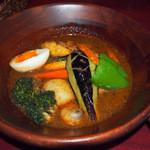 しんペー - チキン野菜スープカレー(1400円)