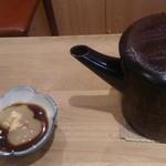 35264913 - 蕎麦湯とわらびもち